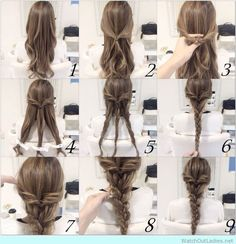 Very-cute-braid-hairstyle-tutorial.jpg (736×762)