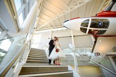 snowbird wedding photo - Museum of aviation Ottawa Ontario, Canada