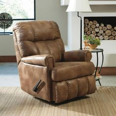 Signature Design by Ashley Chipster Rocker Recliner in Almond