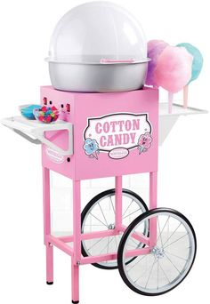 A fanciful product brings fun for family and kids. The Nostalgia Electrics Vintage Collection Old Fashioned Cotton Candy Cart in Home Depot site assist to know the product details. It is a perfect choice for commercial usage. Cotton Candy Cone, Pink Cotton Candy, Pink Candy, Vintage Cotton, Vintage Pink, Accessoires Barbie, Sugar Free Candy, Candy Cart, Teen Room Decor