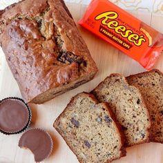 Peanut Butter Cup Banana Bread Recipe | Just A Pinch Recipes