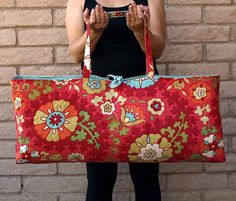Red Yoga or Pilates Tote Gym Bag RADIANCE on Etsy, $45.00