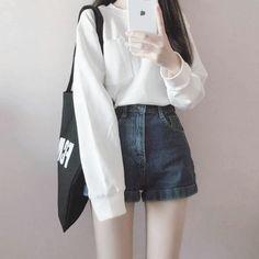 Korean Girl Fashion, Korean Fashion Trends, Ulzzang Fashion, Korea Fashion, Cute Fashion, Asian Fashion, Teen Fashion, Fashion Looks, Fashion Outfits
