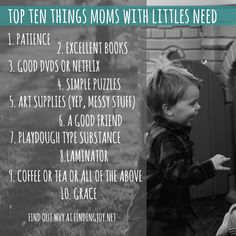 the ultimate list of needed items for moms with little ones #motherhood