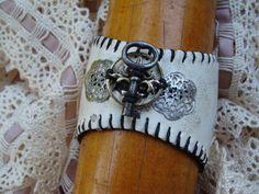 Repurposed Baseball Bracelet by junkinthetrunkstudio on Etsy