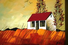 Glendine Painting Lessons, Art Lessons, Abstract Landscape, Landscape Paintings, South African Artists, Mini Canvas Art, House Quilts, Building Art, House Art