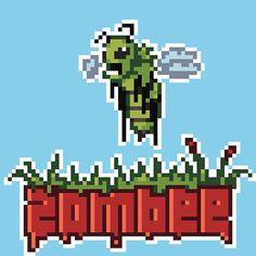 'Zombee' by Panda-Siege League Of Legends, Melted Beads, Pokemon, 8 Bit, Pixel Art, Panda, Maps, Concept Art, Anime Art