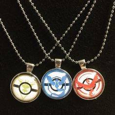 Thats right, they are here! Get your team necklaces today! Team Valor, Team Mystic, and Team Instinct! Support your team! Will your team Reign Supreme?