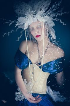 Snow Queen, Ice Queen, Headdress, Headpiece, Dream Team, Frost, High Fashion, Photoshoot, Poses