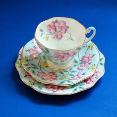 Vintage Foley Bone China Tea Trio Teacup by GrandmasTopDrawer, ETSY, ✿ pin by Colette's Cottage ✿