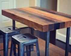 Kitchen island bar table floors Ideas for 2019 Kitchen Furniture, Rustic Furniture, Kitchen Decor, Kitchen Ideas, Unique Furniture, Kitchen Craft, Kitchen Tables, Furniture Styles, Kitchen Tips