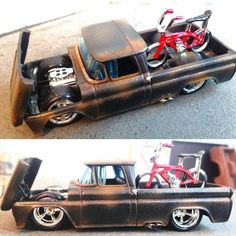 Lowrider Model Cars, Diecast Model Cars, Custom Hot Wheels, Hot Wheels Cars, Carros Hot Wheels, C10 Chevy Truck, Model Cars Kits, Matchbox Cars, Weird Cars