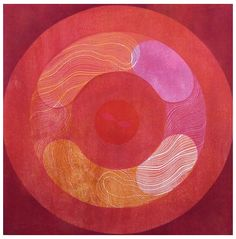 Red Cell Ralph Kiggell woodblock