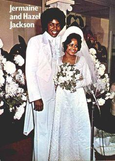 Jermaine Jackson and Hazel Gordy on their wedding day in 1973
