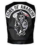Get This Special Offer #4: Sons Of Anarchy Official Vest with Patches Officially Licensed Jax Teller Samcro- Size Large