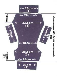 Flortie (fleece shorties) measurements and free pattern, great for covering real nappies or diapers like terries or all in ones