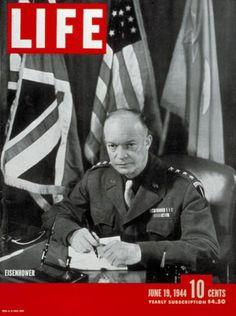 Life Magazine Cover Copyright 1944 Eisenhower - www.MadMenArt.com   Life…