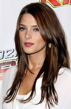 Long Straight Layered Hairstyles with Side Bangs
