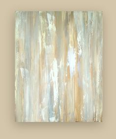 """Reserved Huge Abstract Painting Original Fine Art on Gallery Canvas Titled: White Dove 10 40x50x2"""" by Ora Birenbaum"""
