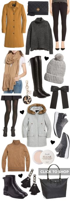 The Packing List: Paris In The Fall & Winter Sequins & Things Fall Travel Wardrobe, Winter Travel Outfit, Winter Packing, Paris Packing, Paris Travel, Travel Packing, Packing Lists, Golf Travel, Cinque Terre