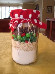 Off the Wheaten Path: Gluten Free Christmas Gifts #1: Christmas M Cookie Mix in a Jar