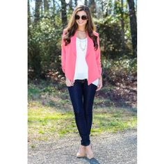 Read The Fine Print Blazer-Coral - $36.00