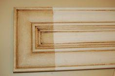Great Method To Cream Glazed Kitchen Cabinets…