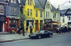 Yorkville, 1960s, Toronto Toronto Ontario Canada, Toronto Travel, Time Photo, Small Cars, Time Travel, Niagara Falls, Old Photos, Gordon Lightfoot, The Neighbourhood