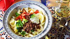 Turkish meat sauce with homemade pasta (yogurtlu kıymalı makarna) recipe : SBS Food
