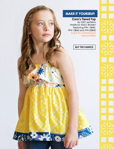 Capsules Lookbook by Art Gallery Fabrics. Top made by Because of Brenna; PDF by Create Kids Couture