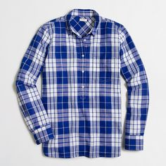 Factory plaid gauze popover shirt : Washed | J.Crew Factory