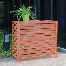 户外阳台空调外机架网格宠物围栏护栏空调架防腐木空调罩实木花架