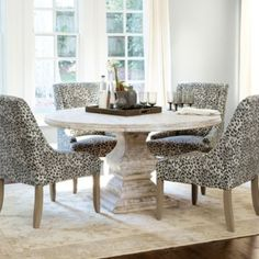 Andrews Pedestal Dining Table | Ballard Designs-Perfect for Kitchen!