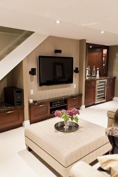 finished basement ideas cool basements basement ideas fireplaces and the fireplace - Small Basement Design