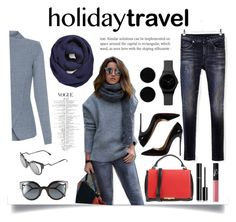 """Holiday Travel"" by luckyauliya ❤ liked on Polyvore featuring Elie Tahari, R13, Fendi, BP., Christian Louboutin, Emilio Pucci, Chanel, NARS Cosmetics and AeraVida"