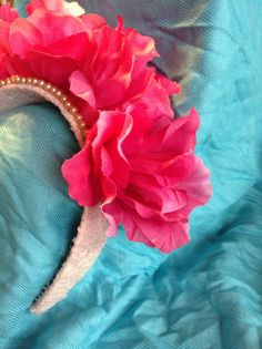 Pearl and lace flower headband by CloudofJudgement on Etsy