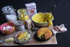 Miniature Food Dollhouse Display Board by GoddessofChocolate