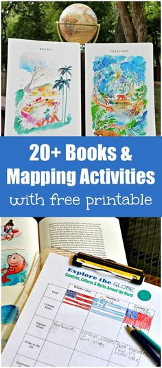 Books & Mapping Activities for cultures and countries around the world Geography Lessons, World Geography, Geography For Kids, Geography Classroom, Multicultural Classroom, Teaching Geography, Kids Around The World, Countries Around The World, Map Activities