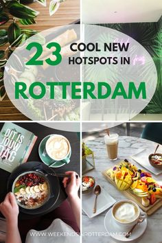 Each week, cool new hotspots are opening in Rotterdam, the Netherlands! In this article we share 23 new hotspots in Rotterdam, the Netherlands, that are definitely worth visiting! Us Travel Destinations, Europe Travel Tips, European Travel, Travelling Europe, European Vacation, Netherlands Food, Rotterdam Netherlands, Amsterdam Travel, The Hague