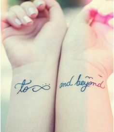 """Toy Story """"To Infinity and Beyond"""" Tattoo"""