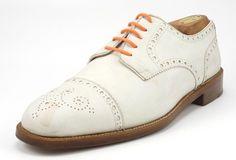 Cole Haan Men's Shoes 8.5 US Nubuck Leather Cap Toe Oxfords White