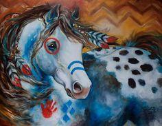 """Appaloosa Indian War Horse"" par Marcia Baldwin"
