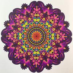 ColorIt Mandalas Volume 1 Colorist: Carol (@berrangovich) #adultcoloring #coloringforadults #mandalas #mandalastocolor