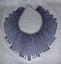 Victorian Lace Collar made by me, pattern from Creative Bead Weaving
