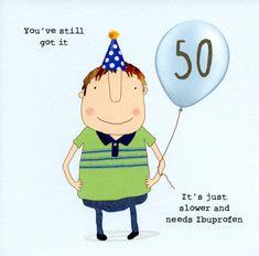50th Birthday Greetings, Birthday Card Sayings, 50th Birthday Cards, Birthday Quotes, Birthday Funnies, Diy Birthday, Sister Birthday Funny, Funny Happy Birthday Wishes, Happy Birthday Images