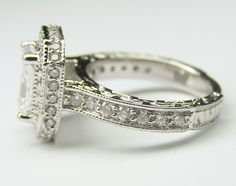 diamonds around the band..exactly what i want! :)