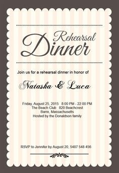 Dinner invitation template free stopboris Gallery