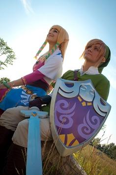 Zelda Skyward Sword cosplay group - sacre shield! by ~patchestakesphotos
