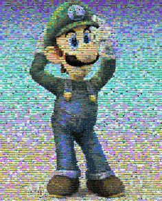 Luigi mosaic by ~cozmicone on deviantART #nintendo