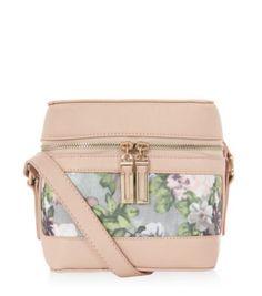 Shell Pink Floral Panel Mini Camera Bag